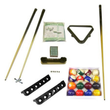 Silver Pool Table Accessory Pack