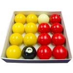 Strikeworth Competition 2'' (50.8mm) Red & Yellow Pool Ball Set