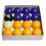 Strikeworth Competition 2'' (50.8mm) Blue & Yellow Pool Ball Set
