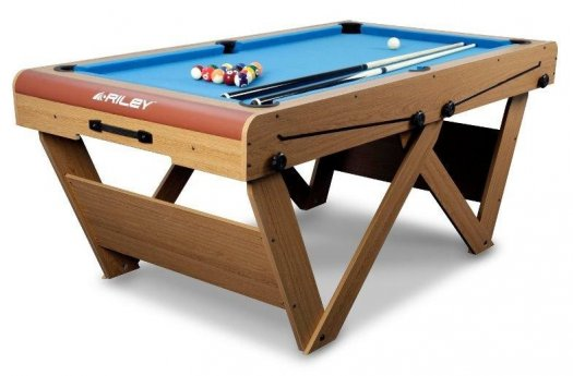 BCE 6 foot W Leg Folding Snooker & Pool Table (FSPW-6)