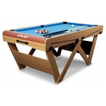 6 foot W Leg Folding Snooker & Pool Table (FSPW-6)