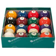 Aramith Premier 2 1/4'' Spots & Stripes Pool Ball Set