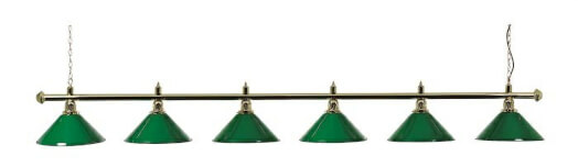 Brass Lighting Bar with 6 Green Lamp Shades (3274.600)