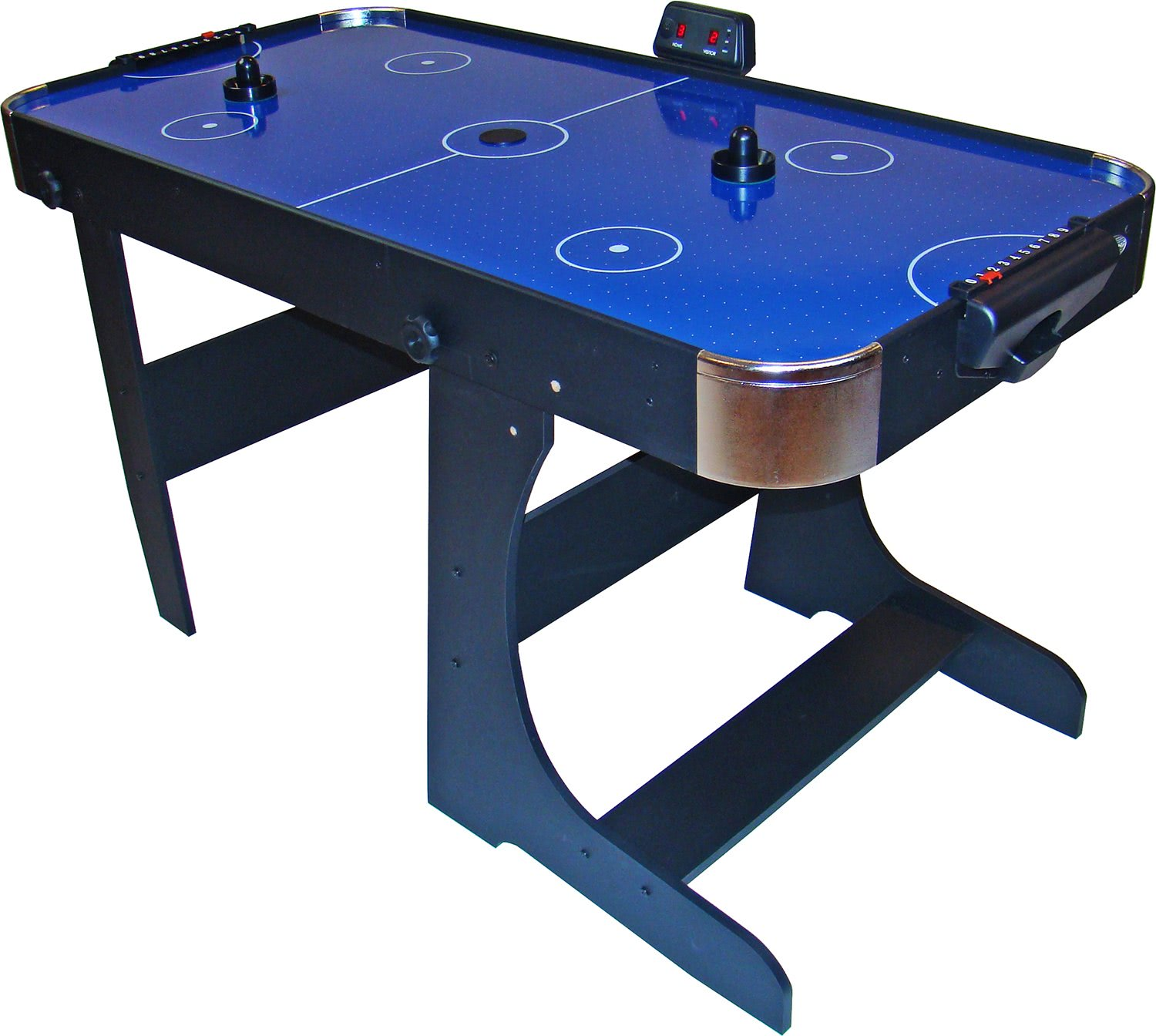 Gamesson blue air hockey table 5ft liberty games for Table hockey