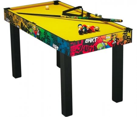 The Simpsons Graffiti 4 foot 6 Inches Pool Table
