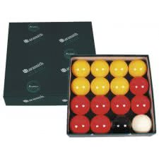 Aramith 2 1/4'' (57mm) Red & Yellow Pool Ball Set (2557.400)