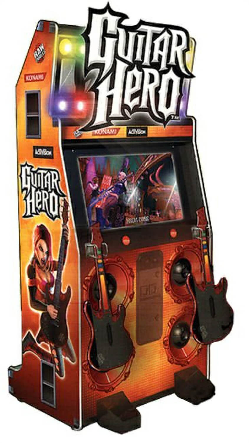 konami guitar hero arcade machine liberty games. Black Bedroom Furniture Sets. Home Design Ideas