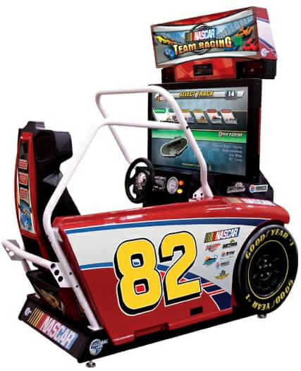 Global VR Nascar Team Racing Deluxe Arcade Machine