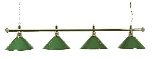 Brass-Effect Lamp Set with 4 Green Shades (3274.050)