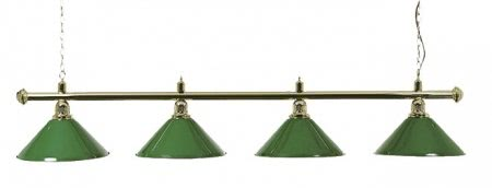 Brass Lamp Set with 4 Green Shades (3274.050)