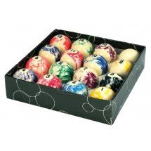 Competition 2'' Marble Spots & Stripes Pool Balls