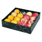 Competition 2'' (50.8mm) Marble Red & Yellow Pool Ball Set
