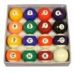 Competition 2 1/4'' (57mm) Spots & Stripes Pool Ball Set