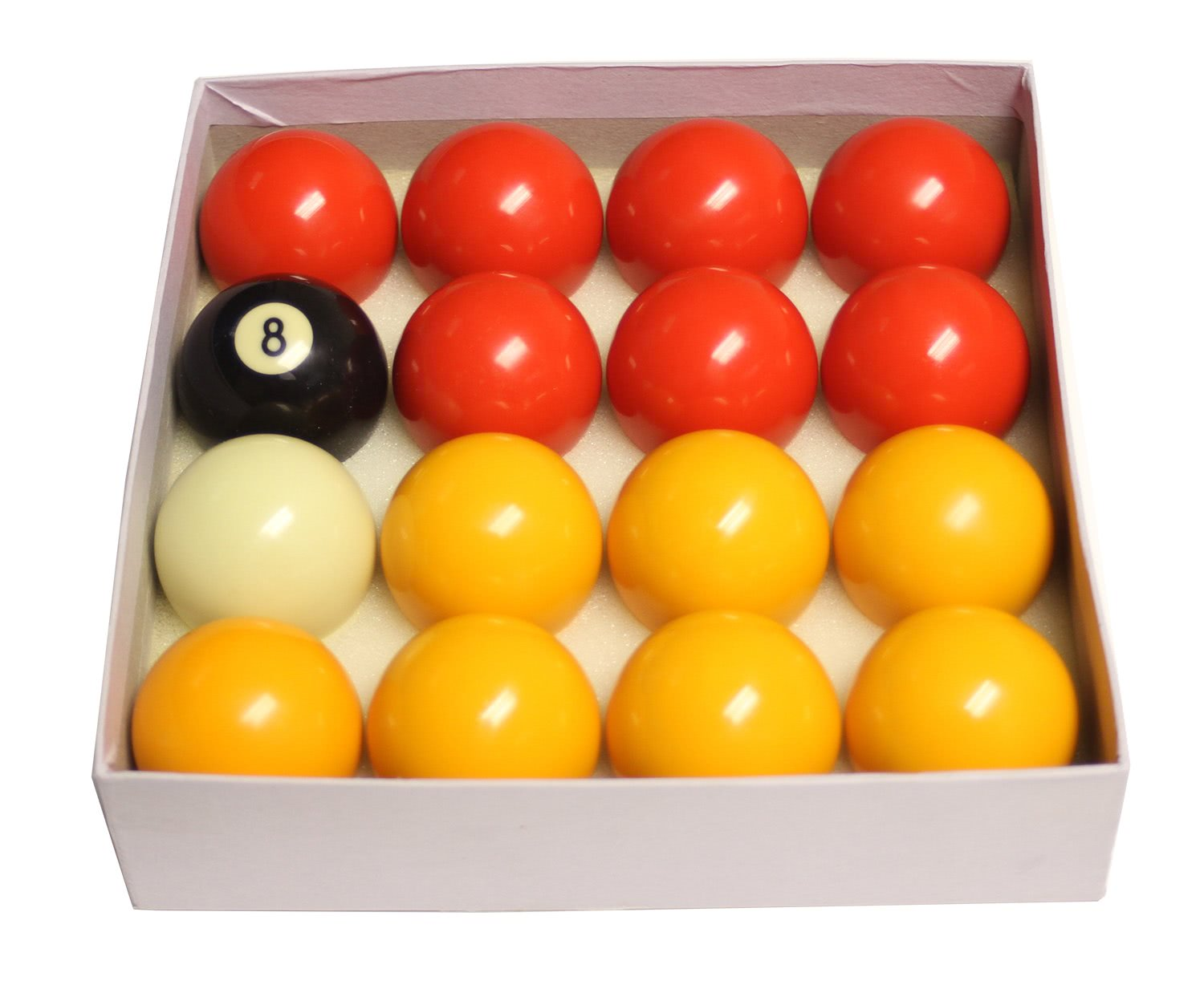 Competition 2 1/4'' (57mm) Red & Yellow Pool Ball Set ...