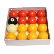 Competition 2 1/4'' (57mm) Red & Yellow Pool Ball Set