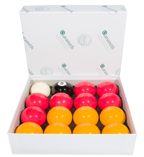 Aramith 2'' (50.8mm) Red & Yellow Pool Ball Set