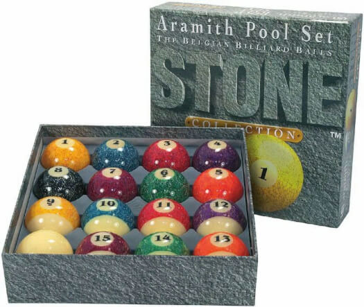 Aramith 2 1/4'' (57mm) Granite Collection Pool Ball Set