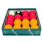 Aramith Premier 2'' (50.8mm) Red & Yellow Pool Ball Set