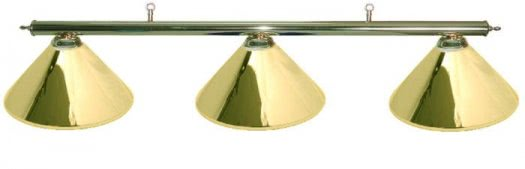 Nostalgia Brass-Effect Lamp Set with 3 Pyramid Shades