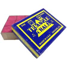 Triangle Billiard Chalk (12 Pieces)