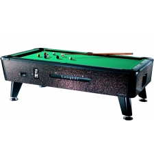 Longoni Tornado Coin Operated American Slate Bed Pool Table