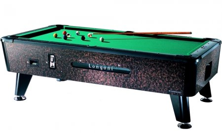 Longoni Tornado Coin Operated American Slate Bed Pool Table