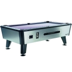 Longoni Tornado Silver Coin Operated American Slate Bed Pool Table
