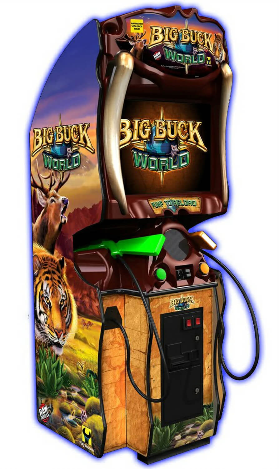 Raw Thrills Big Buck World Arcade Machine Liberty Games