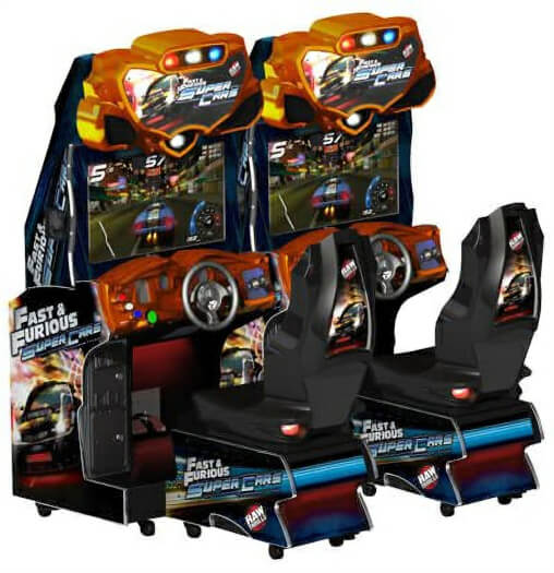 Raw Thrills Fast & Furious: Super Cars Twin Arcade Machine