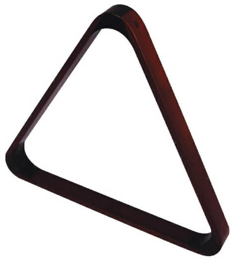 2 1/4'' Mahogany Triangle for 15 Billiard Balls (4057.602)