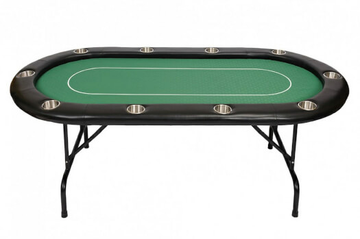 10 Person Pro Poker Table - Green (BCFOLDING-GREEN)