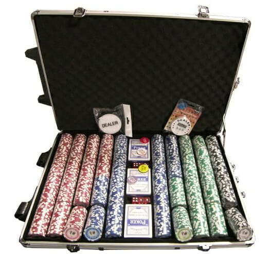 Tournament Pro 1000pc Numbered Poker Chip Set
