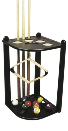 Deluxe Corner Cue Stand for 10 Cues