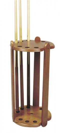 Deluxe Round Cue Stand for 9 Cues