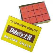 Pioneer Billiard Pro Chalk (12 Pieces)