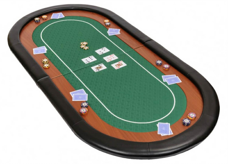 Folding poker top