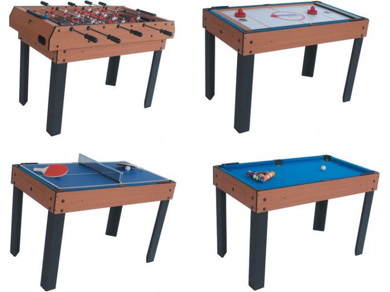 riley 4 in 1 4ft multi games table m4b-1 | liberty games