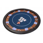 Premium Compact Folding Poker Table Top with Carry Bag (HTOP-500RED)