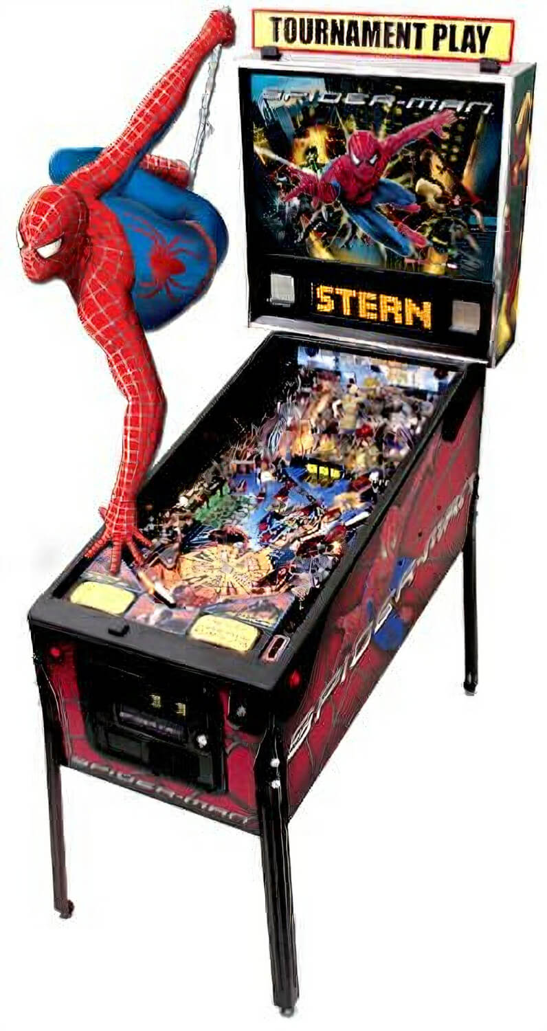 Stern Spider Man Pinball Machine Liberty Games