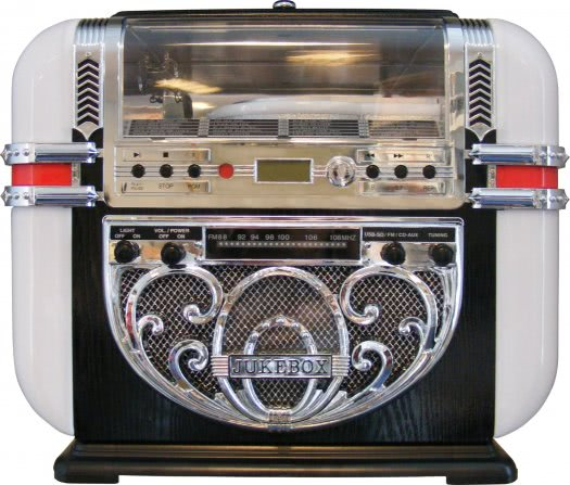 Ricatech Bar Top CD, Radio & MP3 Player Replica Jukebox (RR700)