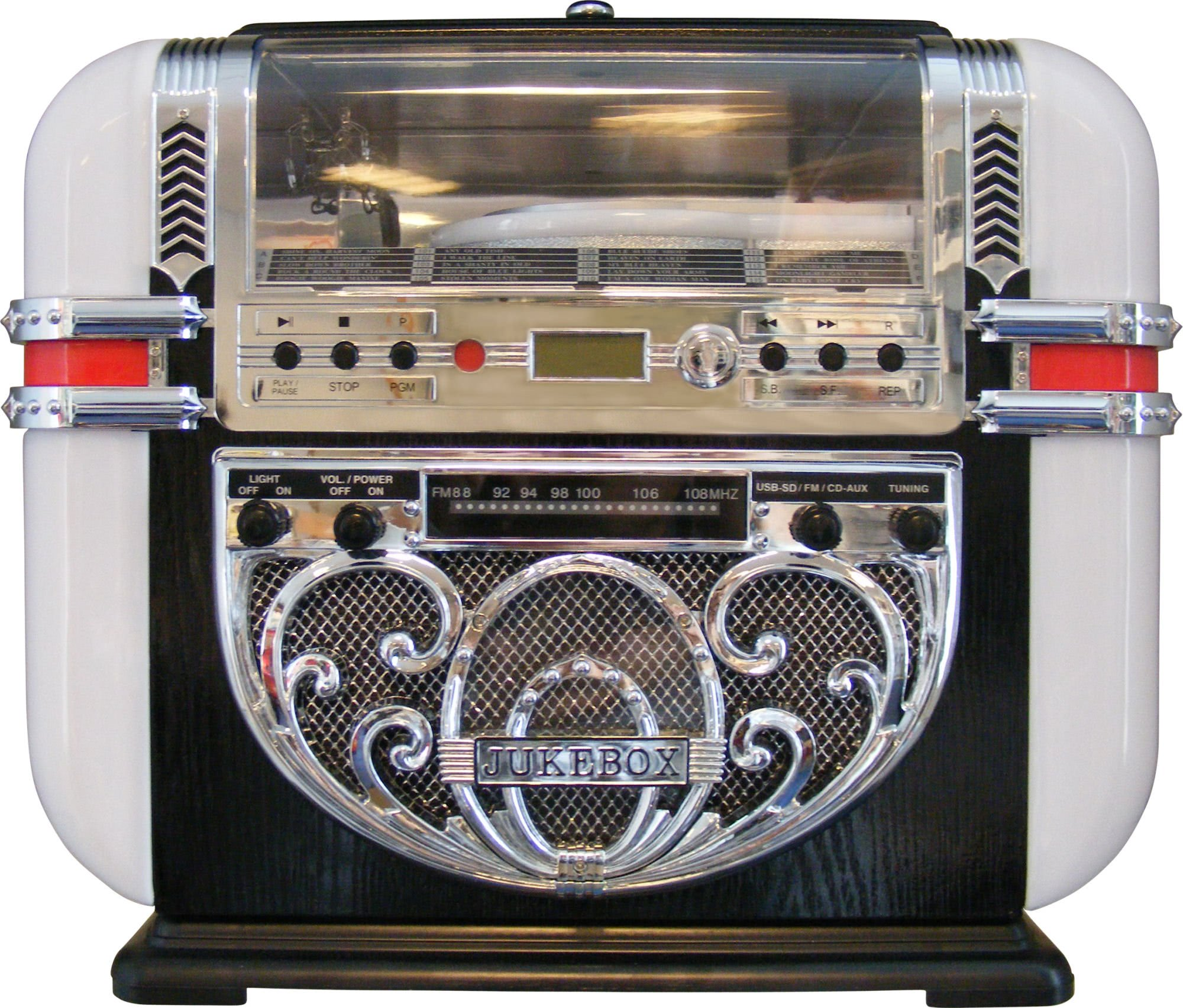 Ricatech Bar Top Cd Radio Amp Mp3 Player Replica Jukebox