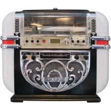 Ricatech Bar Top CD, Radio & MP3 Player Replica Jukebox