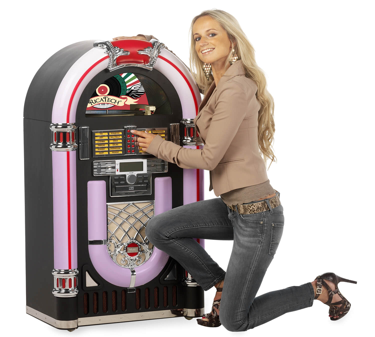 Ricatech Classic Xxl Led Replica Jukebox Rr2000bt