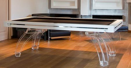 Luxury Roman P40 Glass Legs Slate Bed Pool Table