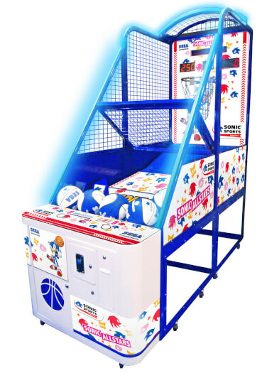 Sega Sonic Sports Basketball Redemption Machine