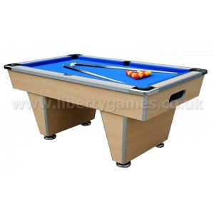 Slimline Club Slate Bed Pool Table