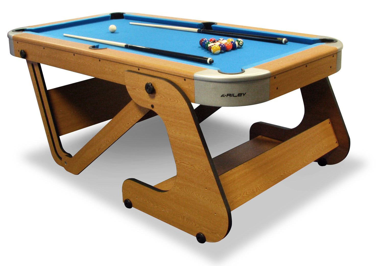 Riley folding pool table rpt 6f liberty games for Table retractable