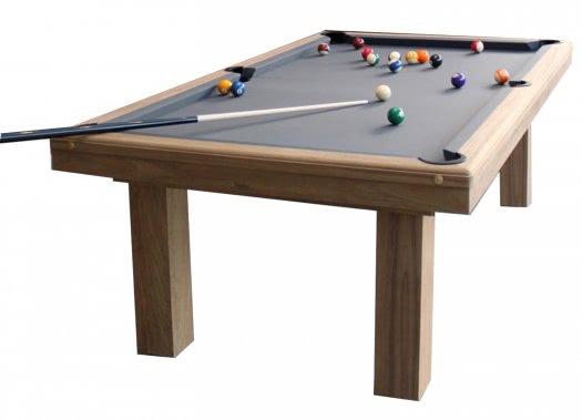 Billard toulet outdoor teck pool table 6 ft 7 ft 8 ft - Table teck exterieur ...