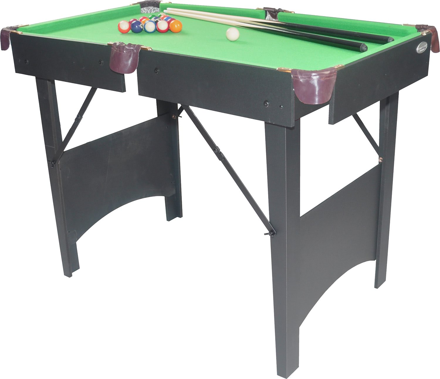 Gamesson cornell 3 foot 6 inch folding pool table for Table 6 foot