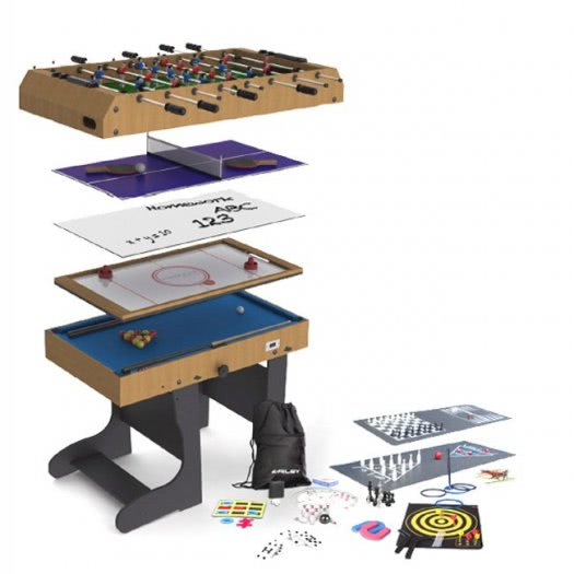 Riley 21-In-1 Folding 4 foot Multi Games Table (M21B-1F)